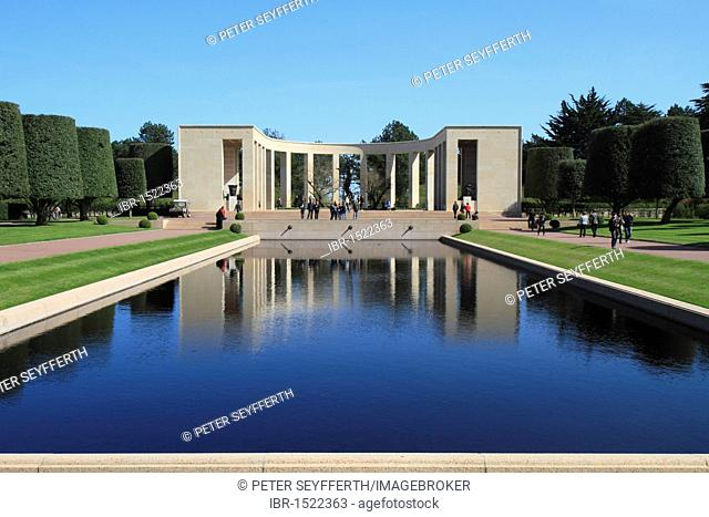Normandy American Cemetery and Memorial above Omaha Beach, site of the landing of the Allied invasion forces on D-Day 6 June 1944, Second World War, Calvados