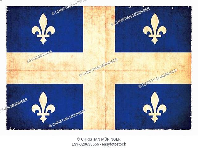Grunge-Flagge Quebec (Kanadische Provinz)
