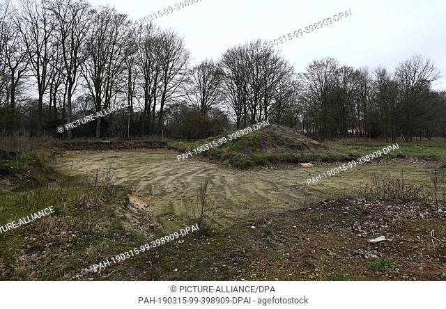 15 March 2019, Bremen: Construction of a new Hindu temple is expected to begin on this site in the summer. Photo: Carmen Jaspersen/dpa