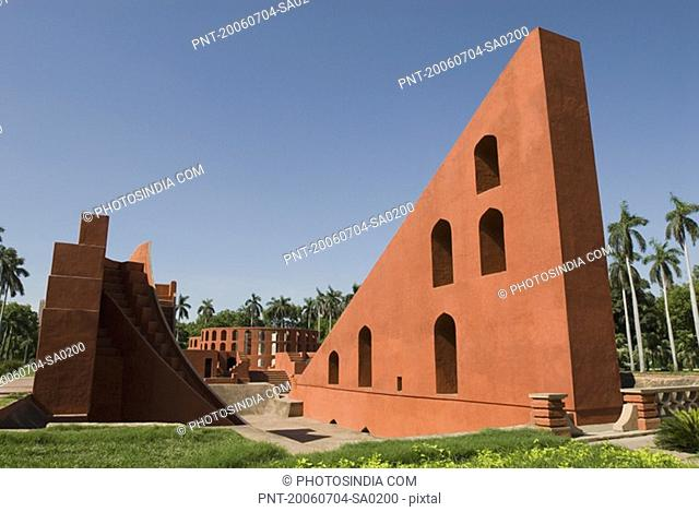 Panoramic view of a sundial, Jantar Mantar, New Delhi, India