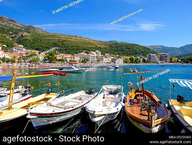 Fishing port, Petrovac, at Budva, Adriatic coast, Montenegro