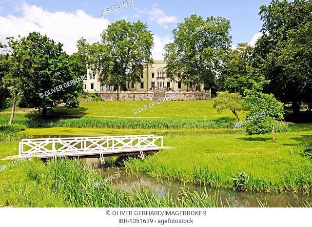 Park, designed by Peter Joseph Lenné, castle and hotel Schloss Kittendorf, Mecklenburg-Western Pomerania, Germany, Europe