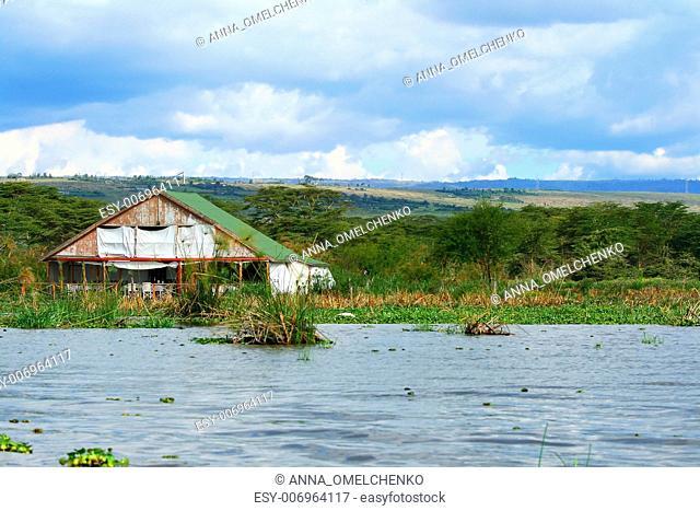 Tourist resort on the lake Naivasha. Africa. Kenya