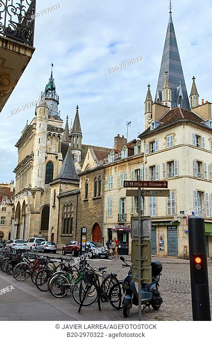 Notre-Dame church, Dijon, Côte d'Or, Burgundy Region, Bourgogne, France, Europe
