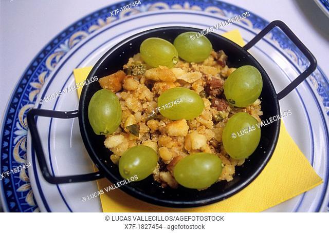 `Migas manchegas',Venta del Quijote,famous typical restaurant ,traditional cuisine,Puerto Lápice, province of Ciudad Real, Castilla la Mancha