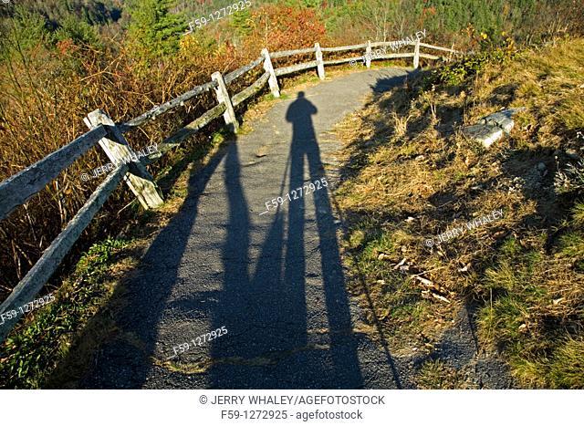 Photographer's Shadow, Cataloochee Cove, Great Smoky Mtns NP, North Caroliina