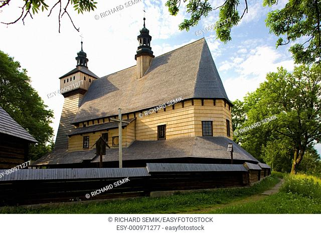 wooden church, Haczow, Poland