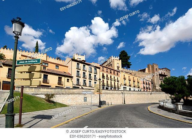Walls on the San Juan Street in Segovia Spain (Santo Domingo de Guzman)