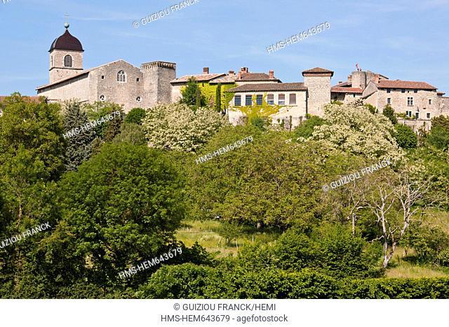 France, Ain, the Medieval village of Perouges, labelled Les Plus Beaux Villages de France The Most Beautiful Villages of France