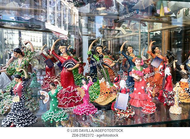 gitana dancer souvenirs. puerta del sol. madrid. spain
