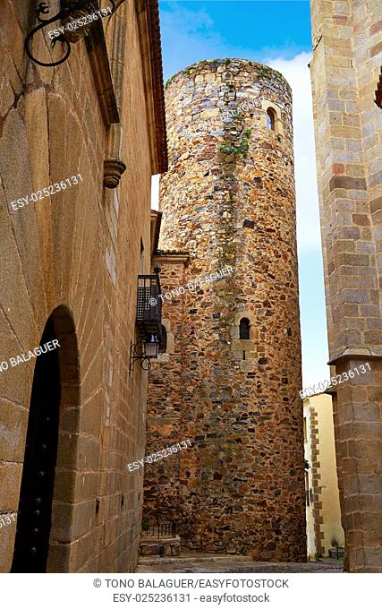 Carvajal Tower in Caceres at Extremadura of Spain