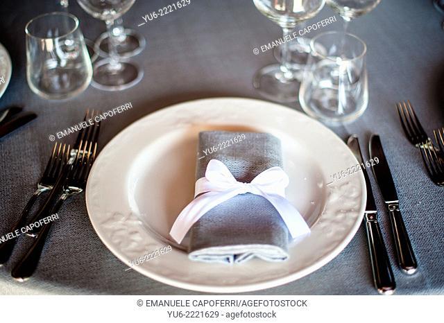 Elegantly laid table