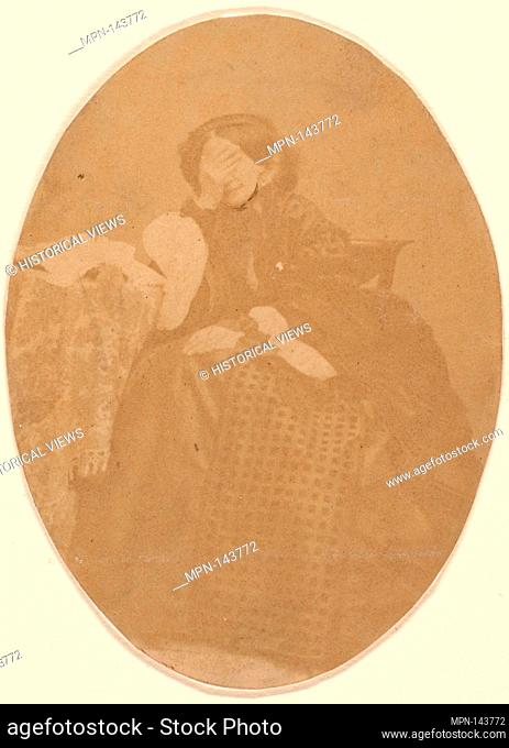 [La Comtesse at Table with Hand to Face]. Artist: Pierre-Louis Pierson (French, 1822-1913); Person in Photograph: Countess Virginia Oldoini Verasis di...
