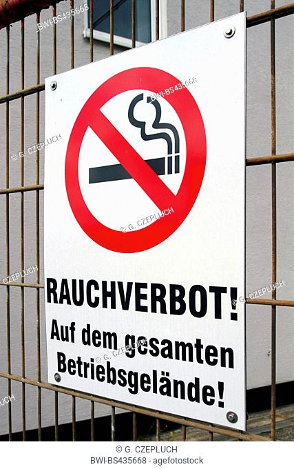 information sign No smoking in these premises, Germany