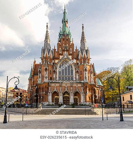 Cathedral of St. Joseph in the old area of Podgorze. Krakow. Poland