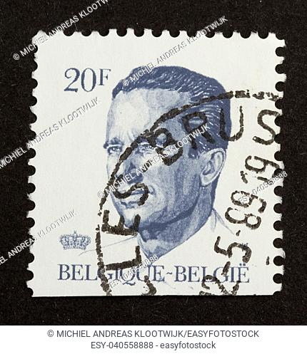 BELGIUM - CIRCA 1970: Stamp printed in Belgium shows the head of state, circa 1970