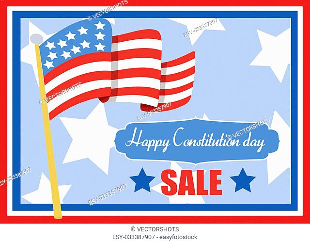 Drawing Art of Sale - Constitution Day Vector Illustration