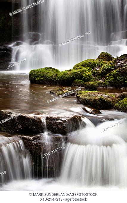 Scaleber Force or Foss Waterfall near Settle North Yorkshire England