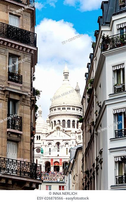 paris - sacre coeur on the hill of montmartre