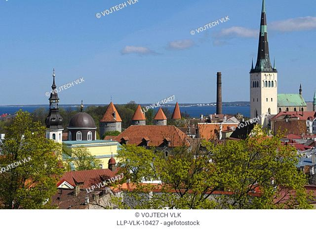 The old historic centre of Tallinn in Esthonia