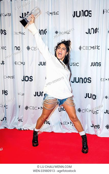 2018 JUNO Awards, held at the Rogers Arena in Vancouver, Canada. Featuring: Jessie Reyez Where: Vancouver, British Columbia