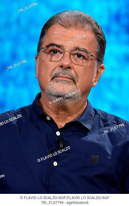 Lawyer Fabio Anselmo during the tv show Che tempo che fa, Milan, ITALY-20-10-2019