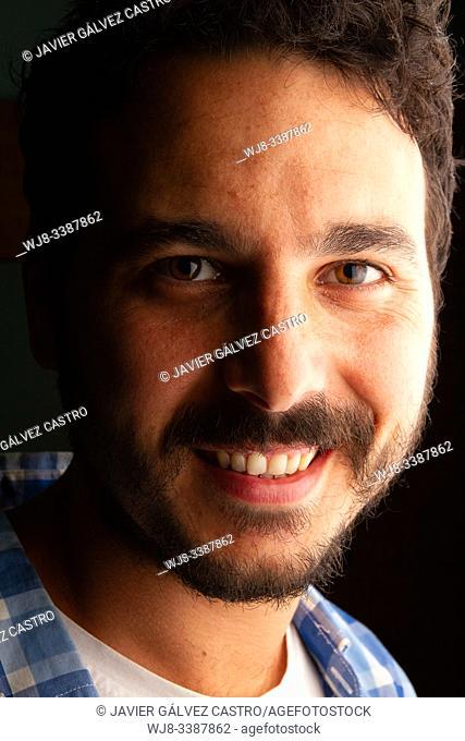 portrait of actor with side studio lighting