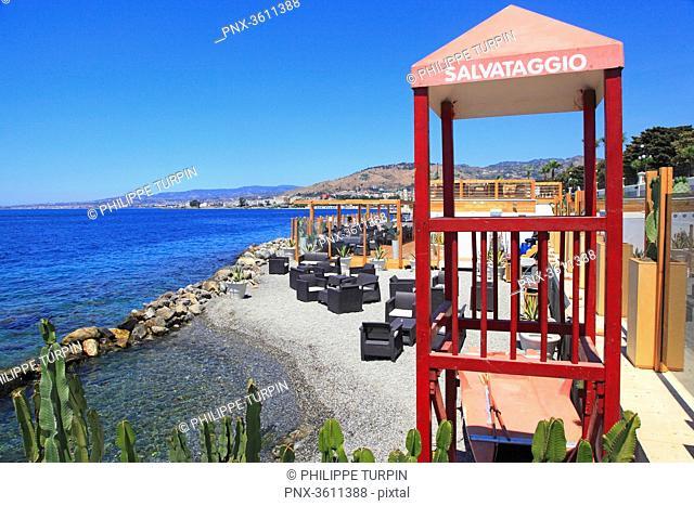 Italia, Calabria, Reggio di Calabria. Private beach