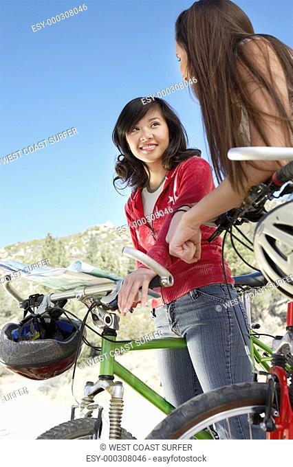 Map On Mountain Bike Stock Photos And Images Age Fotostock