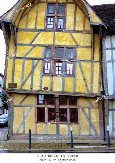 medieval house in Troyes in France