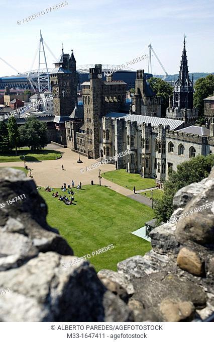 Cardiff Castle, Cardiff, Wales, UK
