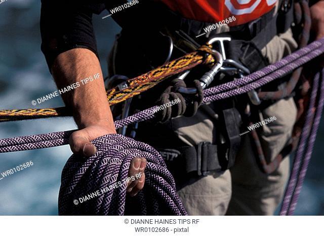 Climbing equipment detail