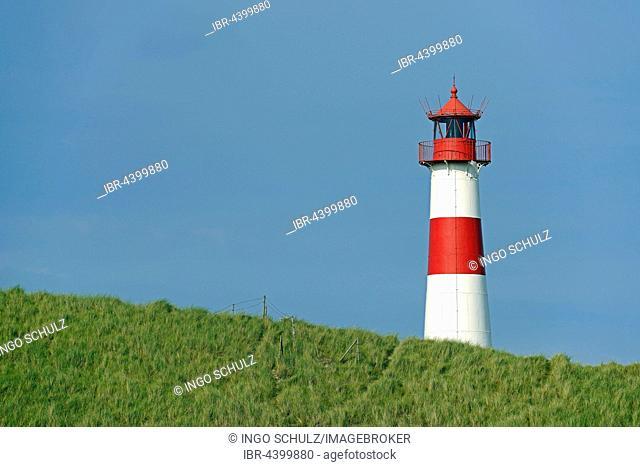 Lighthouse List East, Ellenbogen, Sylt, North Frisian Islands, North Frisia, Schleswig-Holstein, Germany