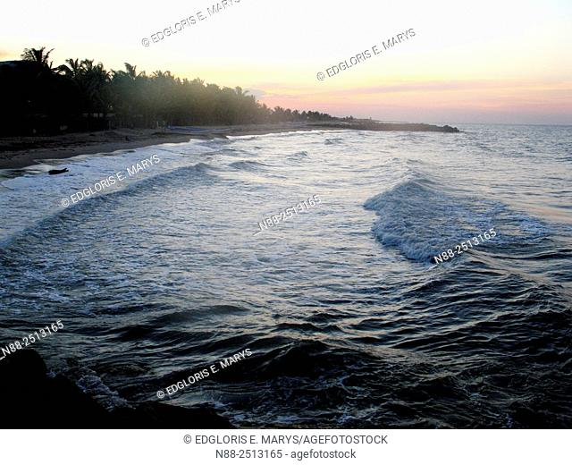 Caribbean sea at sunset, Venezuela