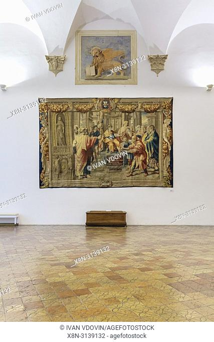Ducal Palace interior, Palazzo Ducale, Urbino, Marche, Italy