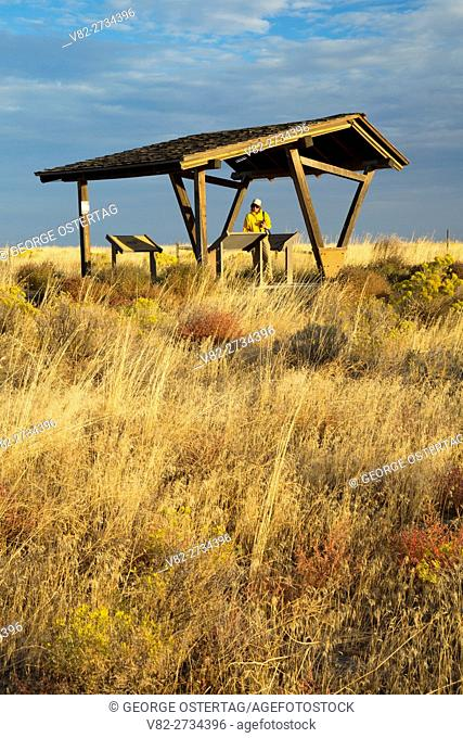 Kiosk at Echo Meadows, Oregon Trail National Historic Trail, Oregon