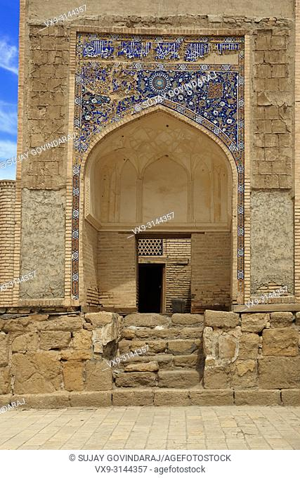 Bukhara, Uzbekistan - August 28, 2016: Chor Bakr Necropolis, ancient small settlement of devishes and graves of Juibar Sheikhs