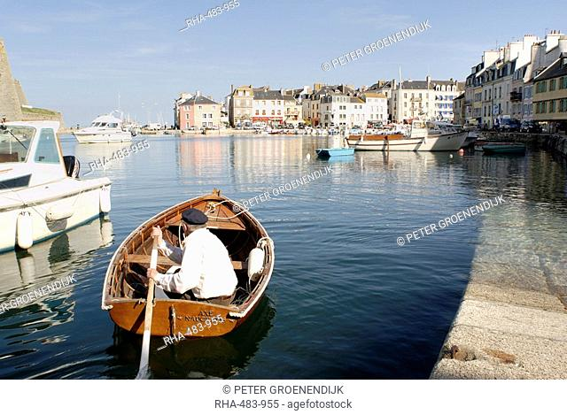 Port of Le Palais, Belle Ile, Brittany, France, Europe