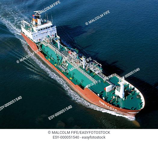 LPG tanker. Firth of Forth. Scotland
