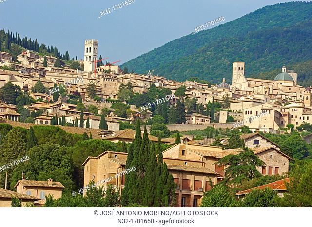 Assisi, UNESCO World Heritage site, Perugia province, Umbria, Italy, Europe