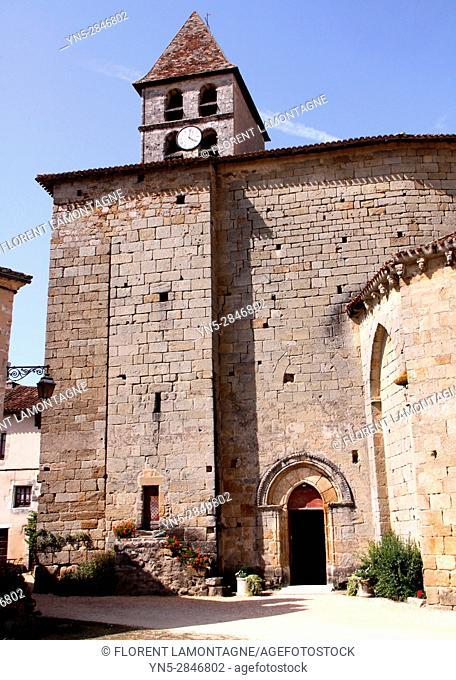 """Saint Jean de Cole, Dordogne, Aquitaine, France, label """"""""Plus beaux villages de France"""""""". Eglise Saint Jean-Baptiste"""