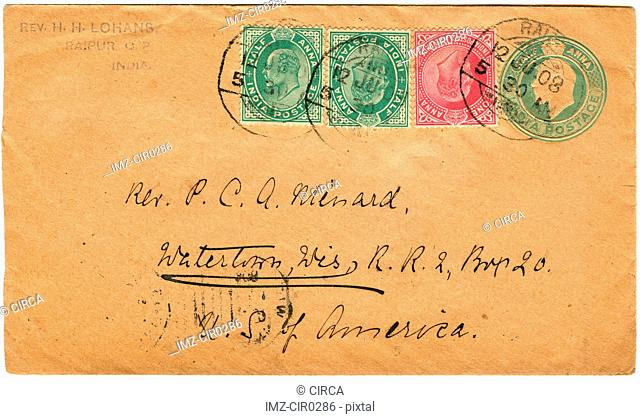 vintage envelopes with stamps