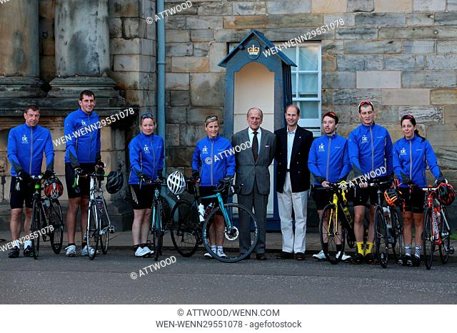 Sophie, Countess of Wessex will cycle from the Palace of Holyroodhouse, Edinburgh to Buckingham Palace, London in support of The Duke of Edinburgh's Award in...
