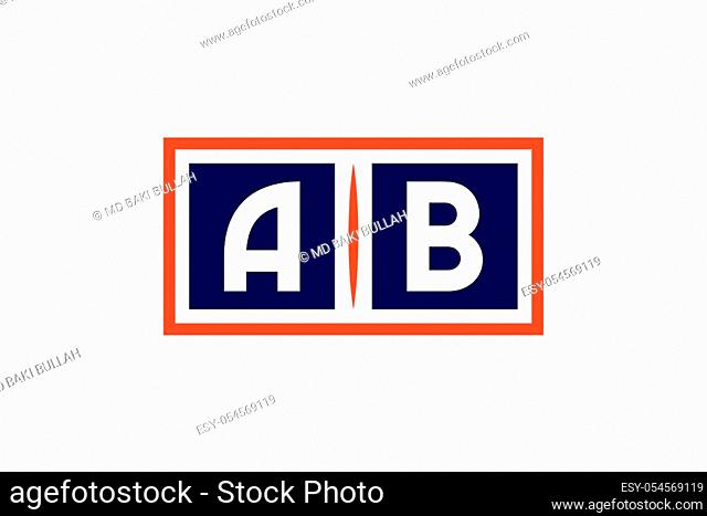 A B, AB Initial Letter Logo design vector template, Graphic Alphabet Symbol for Corporate Business Identity