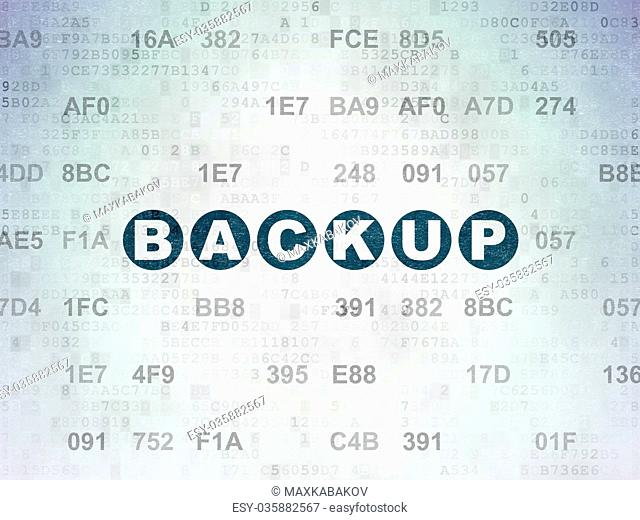 Programming concept: Backup on Digital Data Paper background