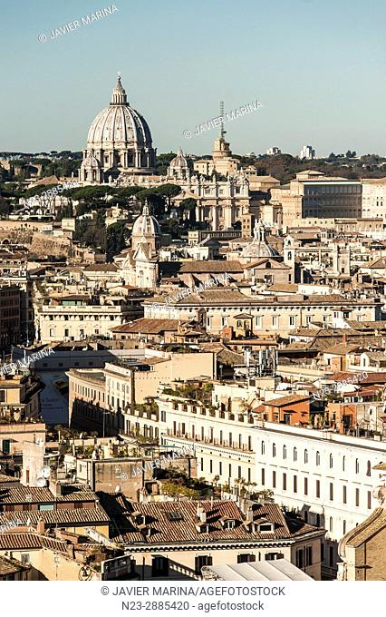 Views from the Altar della Patria, Rome, Italy