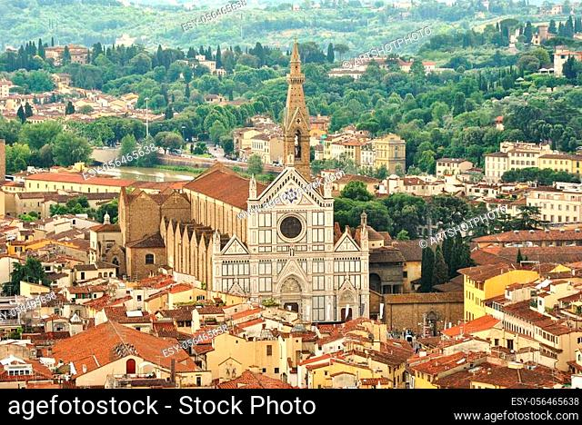 Basilica di Santa Croce, Florence, view from the Dom