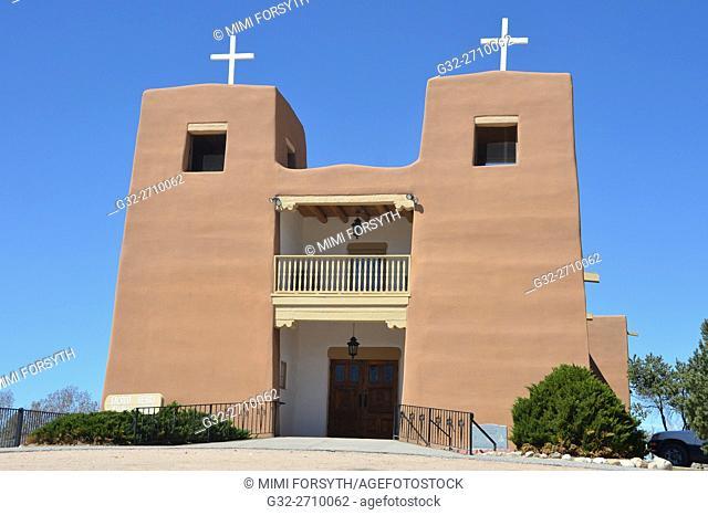 Sacred Heart church, Nambe, New Mexico, USA