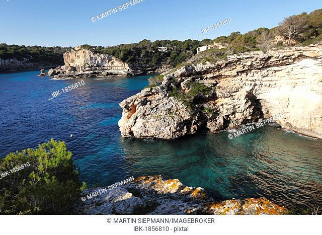 BEach Cala Llombards, Santanyi, Majorca, Balearic Islands, Spain, Europe