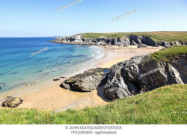 Porth Joke or Polly Joke beach near to Crantock Cornwall South West England UK